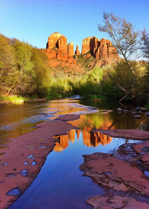 Iphoneography Greeting Card featuring the photograph Cathedral Rock Sedona by Matt Suess
