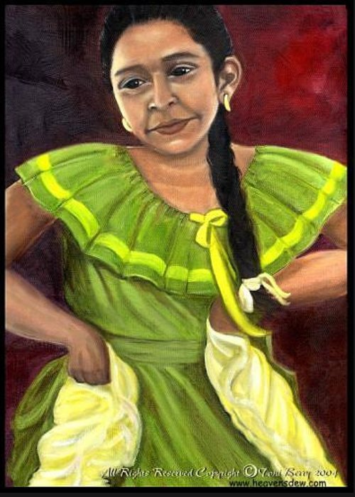 Greeting Card featuring the painting Cecelia by Toni Berry