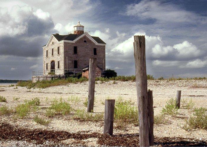 Island Greeting Card featuring the photograph Cedar Island Lighthouse Long Island New York by Tony Ramos