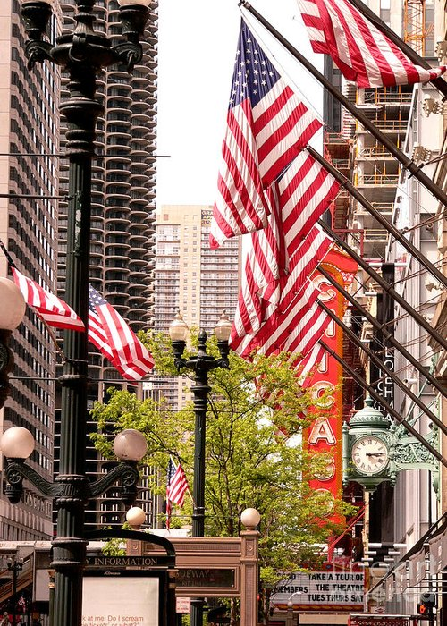 Chicago Illinois Greeting Card featuring the photograph Celebrating Independence by David Bearden