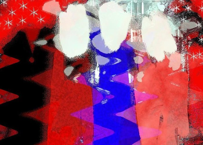 4th Of July Greeting Card featuring the painting Celebration 3 by Mimo Krouzian