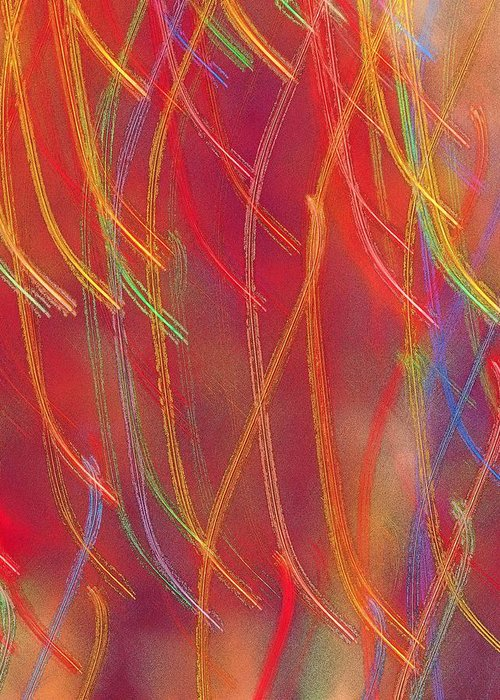 Abstract Greeting Card featuring the photograph Celebration by Gaby Swanson