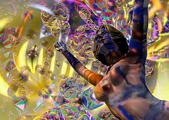 Woman Greeting Card featuring the digital art Celebration Spirit by Dave Martsolf