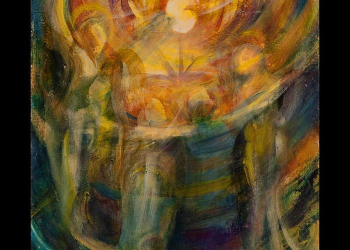 Angelic Greeting Card featuring the painting Celebration by Teresa Dunwell