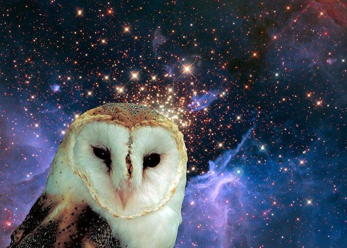 Stars Greeting Card featuring the digital art Celestial Nights by Robert Orinski