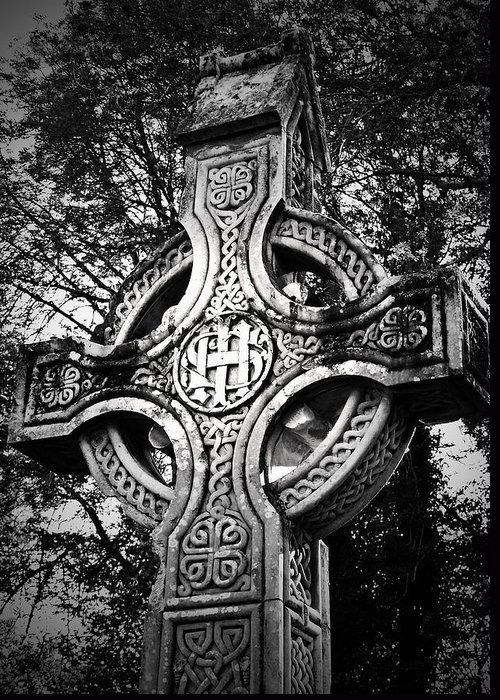 Irish Greeting Card featuring the photograph Celtic Cross Detail Killarney Ireland by Teresa Mucha