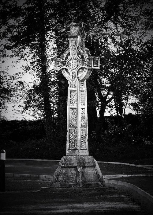 Irish Greeting Card featuring the photograph Celtic Cross In Killarney Ireland by Teresa Mucha