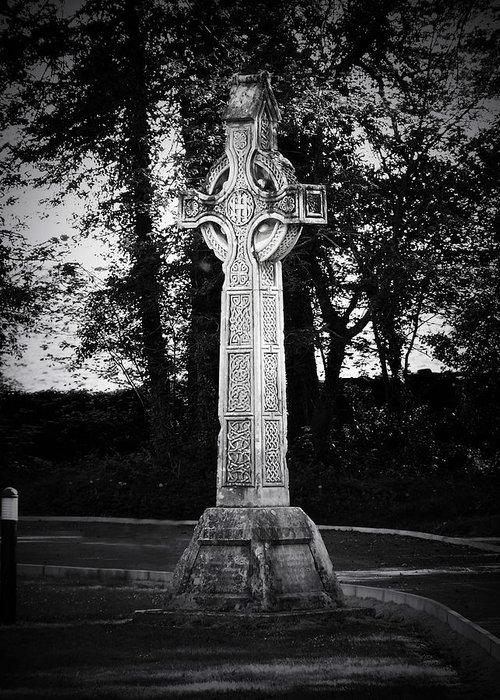 Irish Greeting Card featuring the photograph Celtic Cross in Killarney Ireland by Teresa Mucha