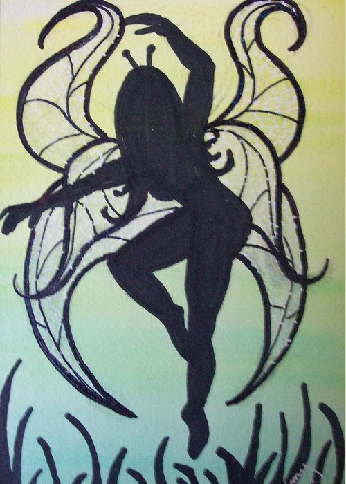 Greeting Card featuring the painting Celtic Fairy by Amy Lauren Gettys