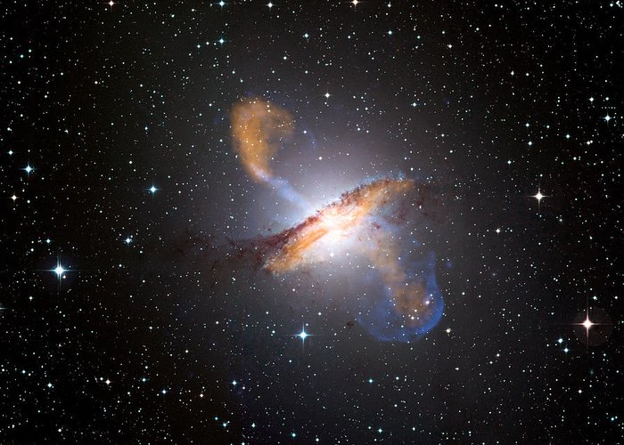 Centaurus A Greeting Card featuring the photograph Centaurus A Black Hole by Nasa