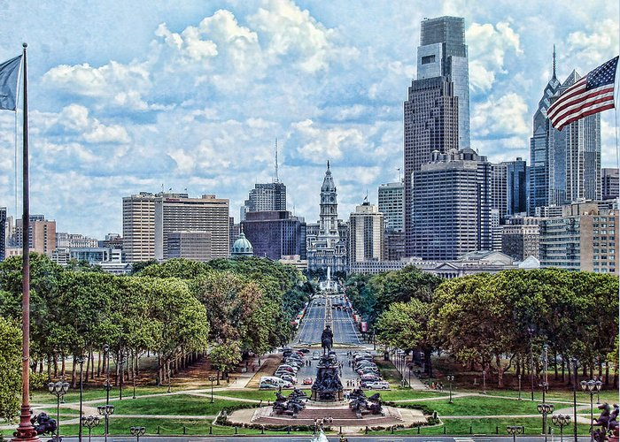 Philadelphia Greeting Card featuring the photograph Center City Philly by Kevin Sherf