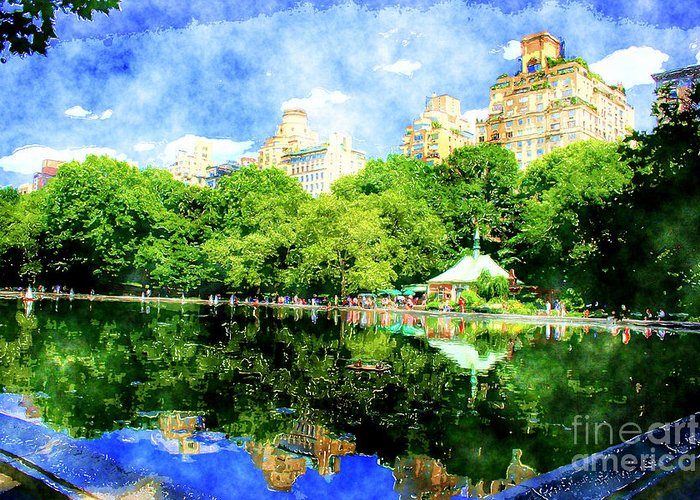 New York Greeting Card featuring the photograph Central Park by Julie Lueders