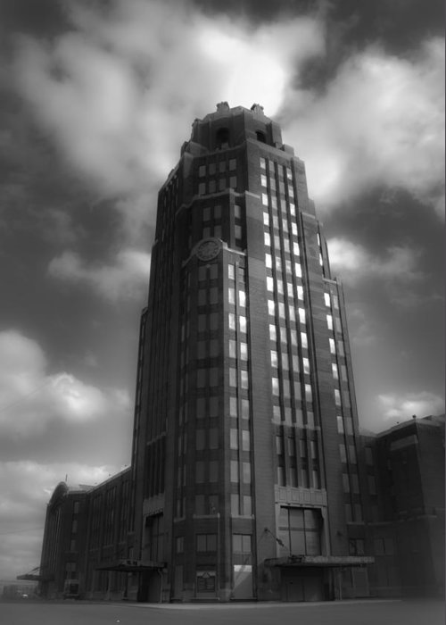 Buffalo Greeting Card featuring the photograph Central Terminal by Chuck Alaimo