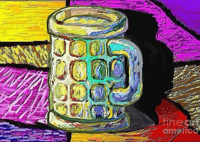 Digital Art Greeting Card featuring the painting Cervesa by Xavier Ferrer