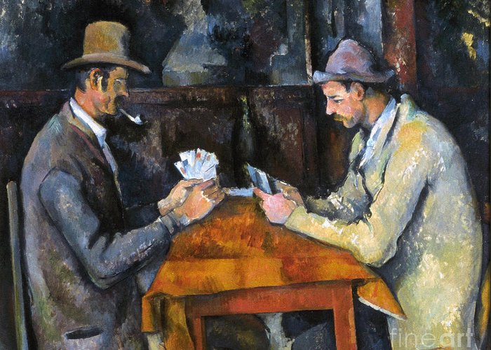 Aod Greeting Card featuring the photograph Cezanne: Card Player, C1892 by Granger