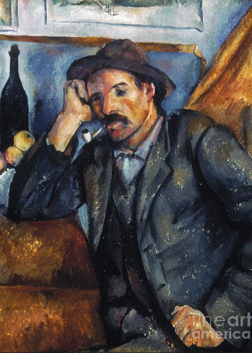 1900 Greeting Card featuring the photograph Cezanne: Pipe Smoker, 1900 by Granger