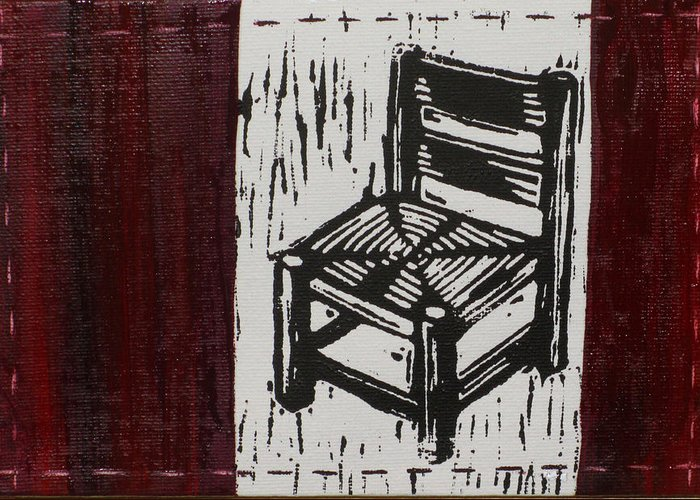 Chair Greeting Card featuring the mixed media Chair I by Peter Allan