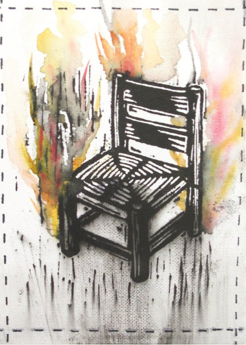 Chair Greeting Card featuring the painting Chair IIi by Peter Allan