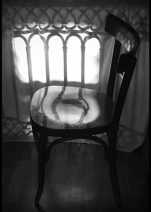 Greeting Card featuring the photograph Chair by Julia Bridget Hayes