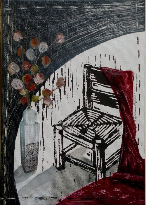 Chair Greeting Card featuring the mixed media Chair Viii by Peter Allan