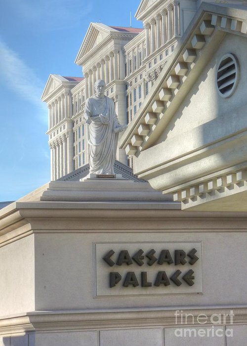 Julius Caesar Caesars Palace Greeting Card featuring the photograph Chairman Of The Board by David Bearden