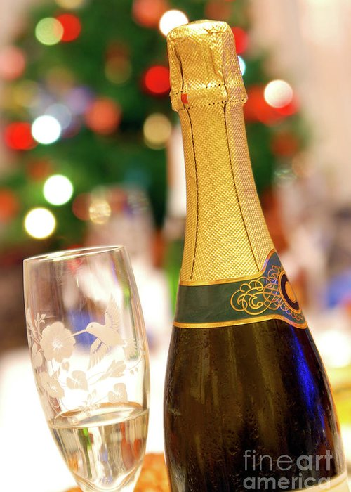 Alcohol Greeting Card featuring the photograph Champagne by Carlos Caetano