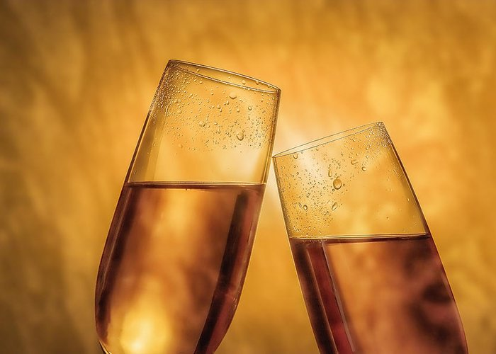 Champagne Photographs Greeting Cards