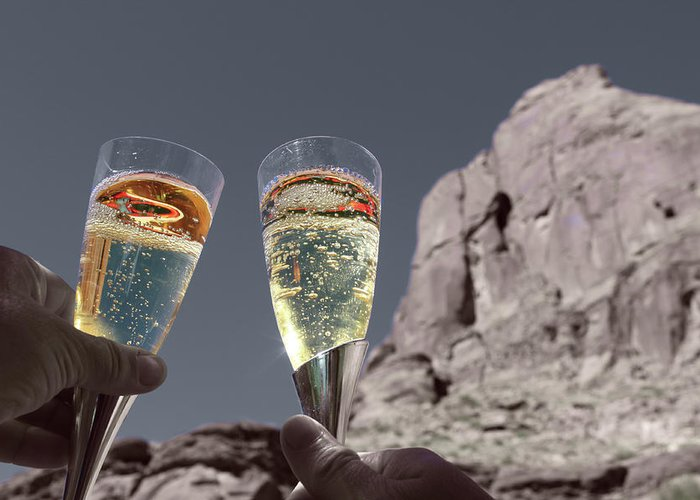 Champagne Greeting Card featuring the photograph Champagne Wish by Angie Wingerd