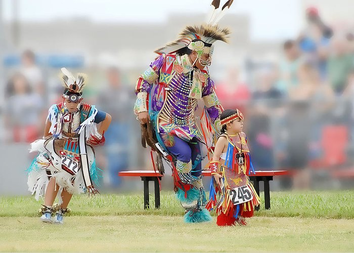 Pow Wow Greeting Card featuring the photograph Championship Pow Wow - Grand Prairie Texas by Dyle Warren