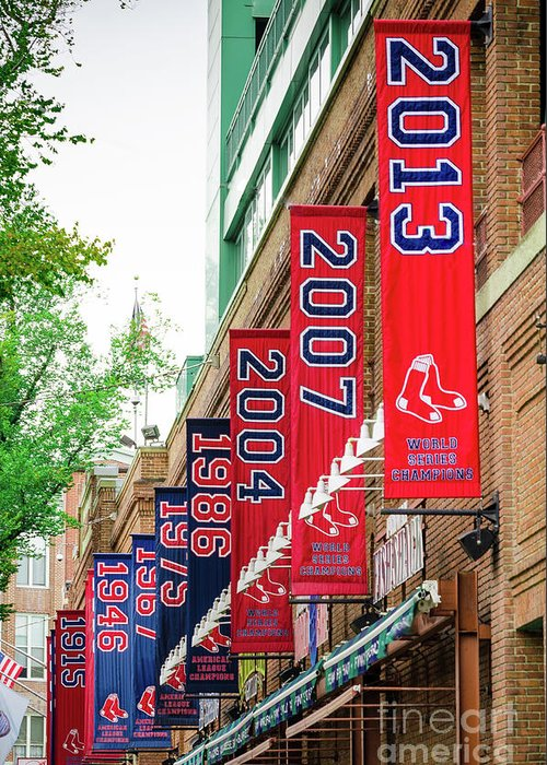 Red Sox Greeting Card featuring the photograph Champs Again by Mike Ste Marie