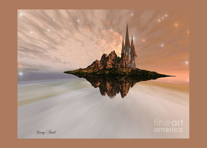 Ancient Greeting Card featuring the painting Chandara by Corey Ford