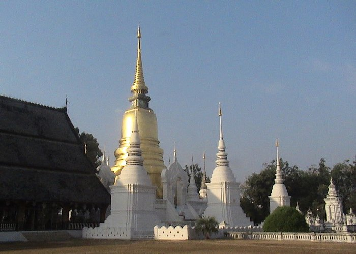 Travel Greeting Card featuring the photograph Chang Mai Temple by William Thomas