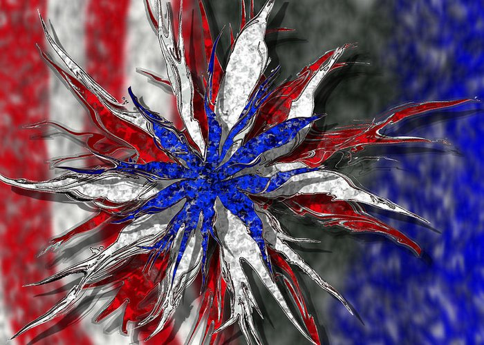 Abstract Art Greeting Card featuring the digital art Chaotic Star Project - Take 3 by Scott Hovind