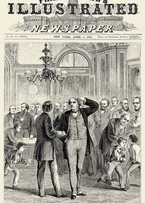 1871 Greeting Card featuring the photograph Charles Sumner (1811-1874) by Granger