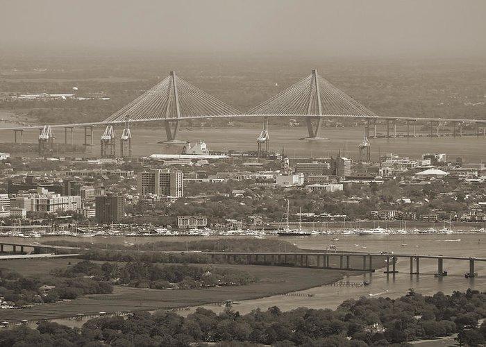 Charleston Greeting Card featuring the photograph Charleston South Carolina Aerial by Dustin K Ryan