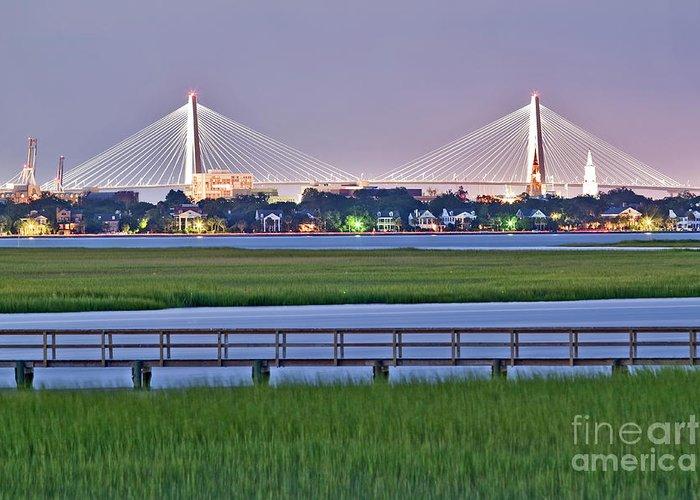 Charleston Greeting Card featuring the photograph Charleston South Carolina Skyline by Dustin K Ryan