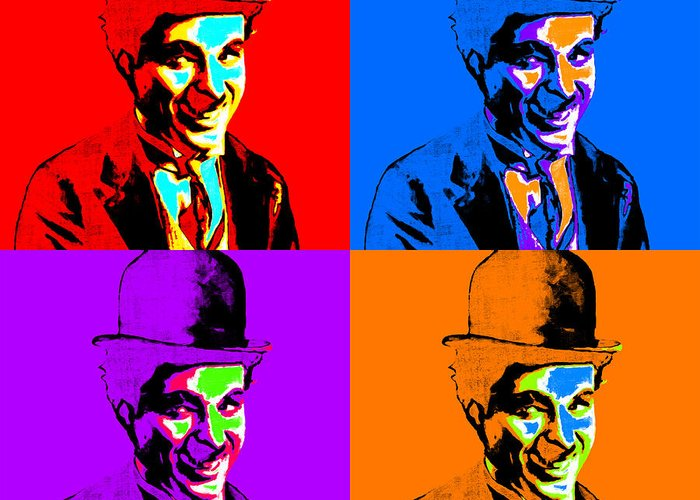 Charlie Greeting Card featuring the photograph Charlie Chaplin Four 20130212 by Wingsdomain Art and Photography