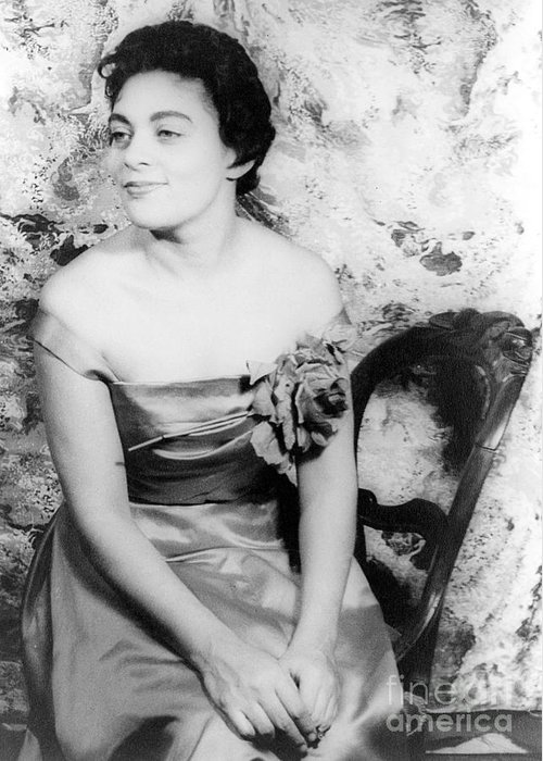 1957 Greeting Card featuring the photograph Charlotte Holloman (1922-) by Granger