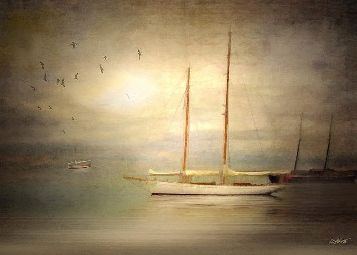 Ship Greeting Card featuring the digital art Charlotte by Michael Petrizzo