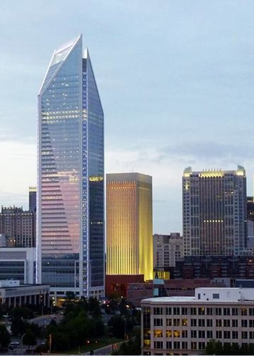 Charlotte Greeting Card featuring the photograph Charlotte Skyline by Tim Mattox