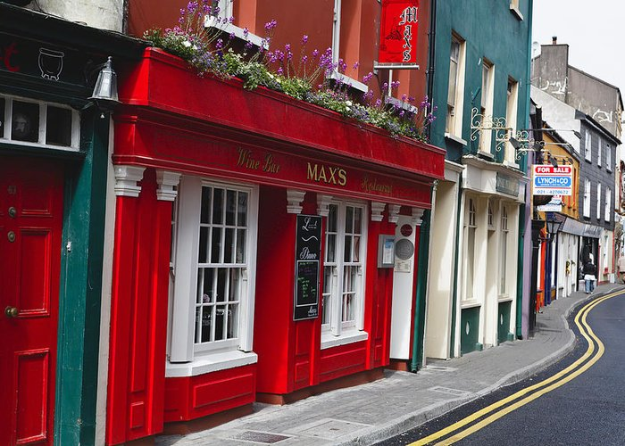 Europe Greeting Card featuring the photograph Charming Narrow Street In Kinsale by George Oze