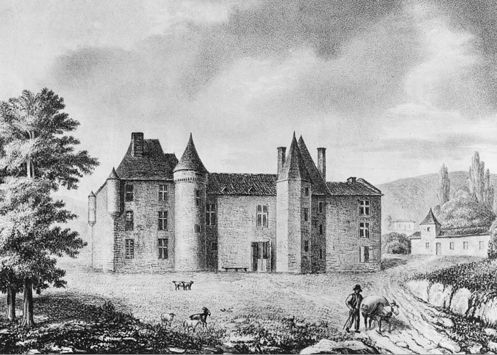 Chateau Drawings Greeting Cards