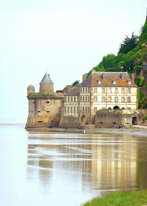 France Greeting Card featuring the photograph Chateau On Mont St-michel by Vicki Hone Smith