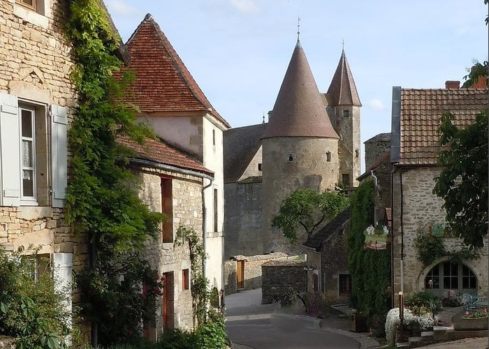 Europe Greeting Card featuring the photograph Chateauneuf En Auxois Burgundy France by Marilyn Dunlap