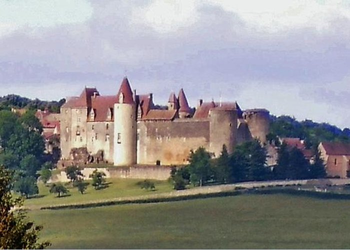 Europe Greeting Card featuring the photograph Chateauneuf En Auxois France by Marilyn Dunlap