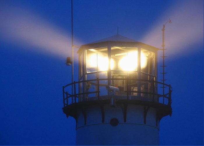 Lighthouse Greeting Card featuring the photograph Chatham Light by Juergen Roth