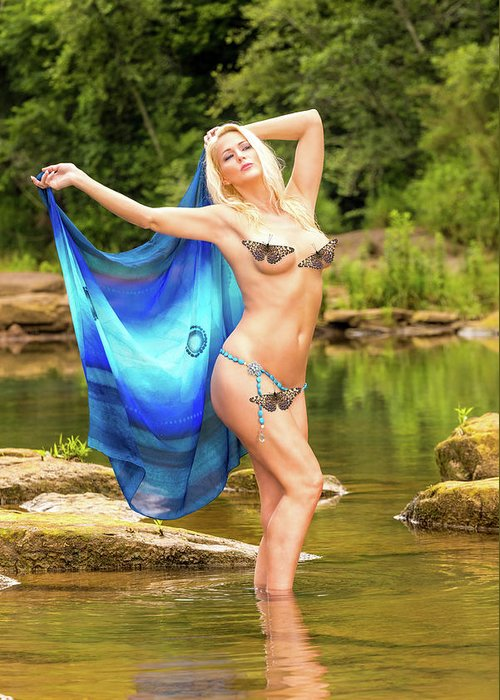 Chattahoochee River Greeting Card featuring the photograph Chattahoochee Meditation Dance by Allegory Imaging