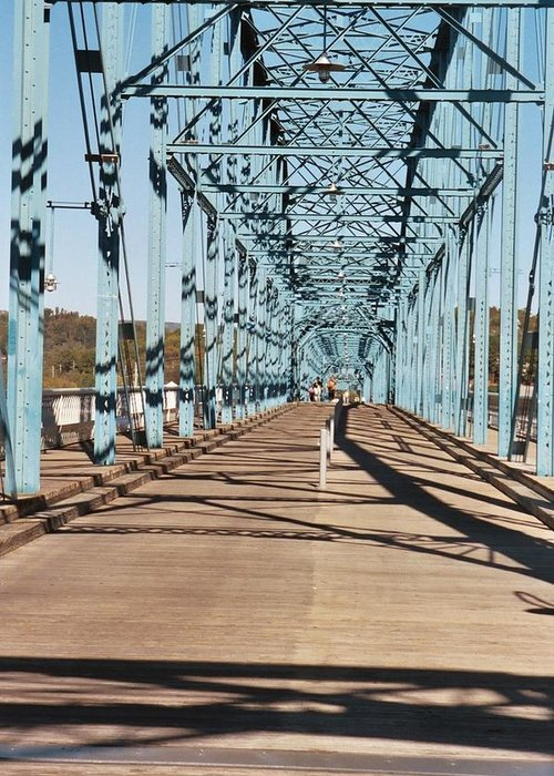 Chattanooga Greeting Card featuring the photograph Chattanooga Walking Bridge by Jake Hartz