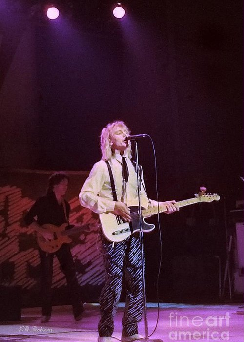 Robin Zander Greeting Card featuring the photograph Cheap Trick 4 by Kevin B Bohner