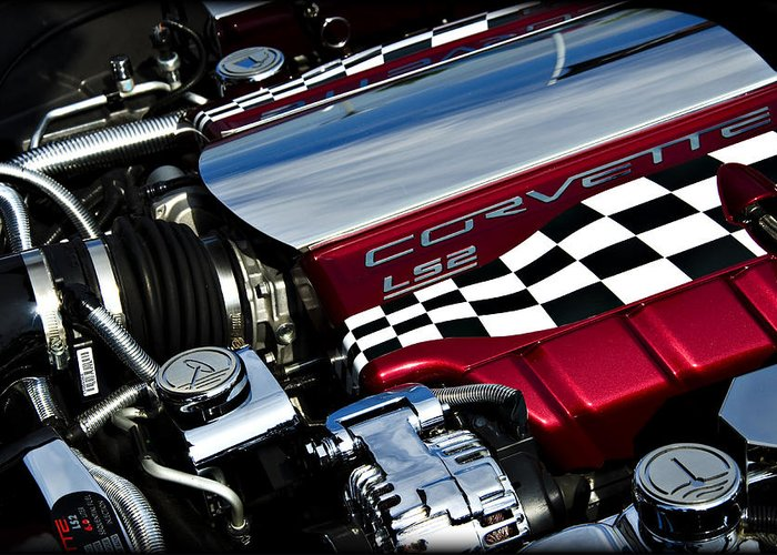 Corvette Greeting Card featuring the photograph Checkered Flag by Ricky Barnard